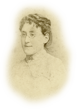 Vintage portrait of lady in glasses